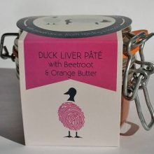 Duck Liver Pate with a Beetroot and Orange Butter