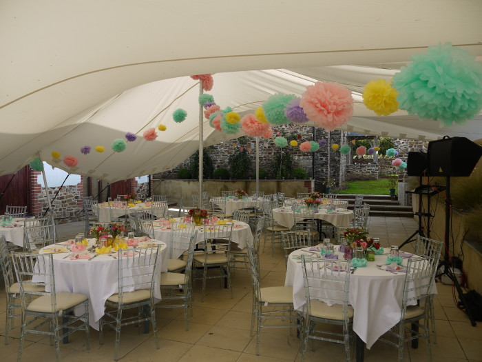 The stretch tent laid up for Shebber Y5 Prom