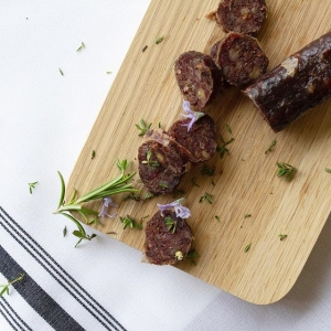 British lamb salami created by artisan British charcuterie makers, Cornish Charcuterie