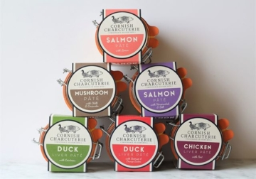 The range of wholesale charcuterie included british pates and rillettes