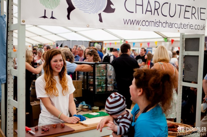 Cornish charcuterie  at Bude For Food Festival 2014