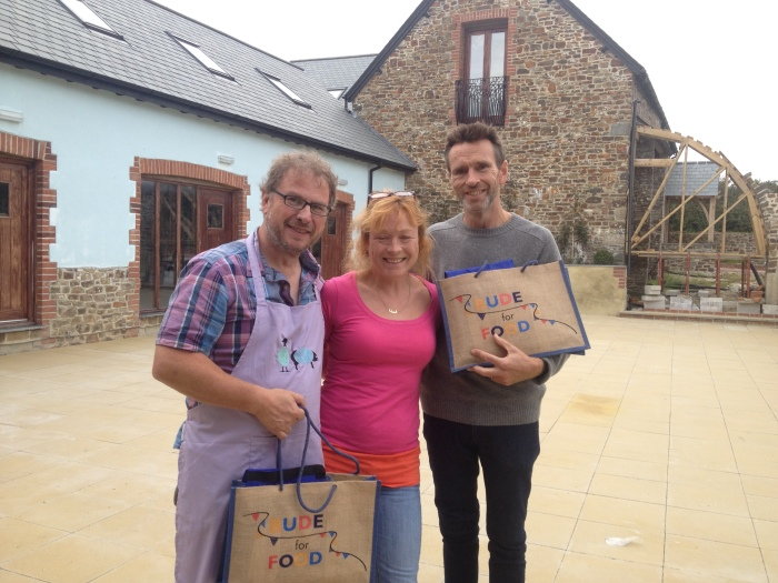 Oliver Peyton with Richard & Fionagh after filming BBC2 Food & Drink programme