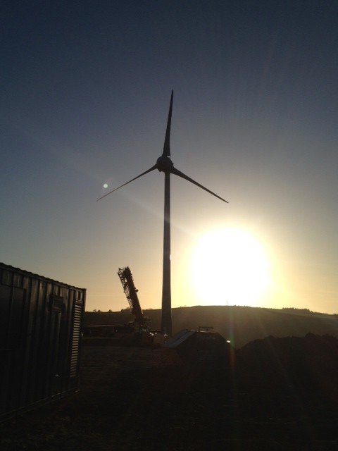 Turbine generates sustainable electricity for businesses at Norton Barton; shortlisted for Regional Growth Award